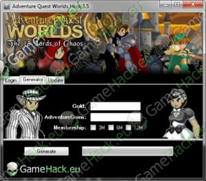 Adventure Quest Worlds Cheat Hack